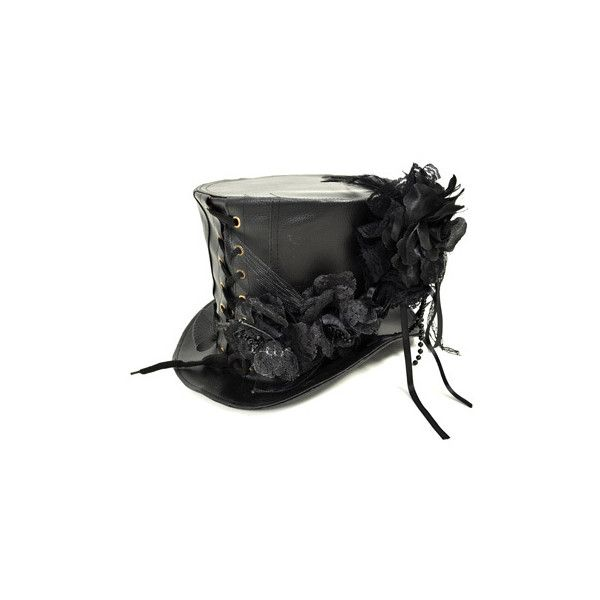 Trilby hats – alternative headwear – trilby hats for men – black... ($83) ❤ liked on Polyvore