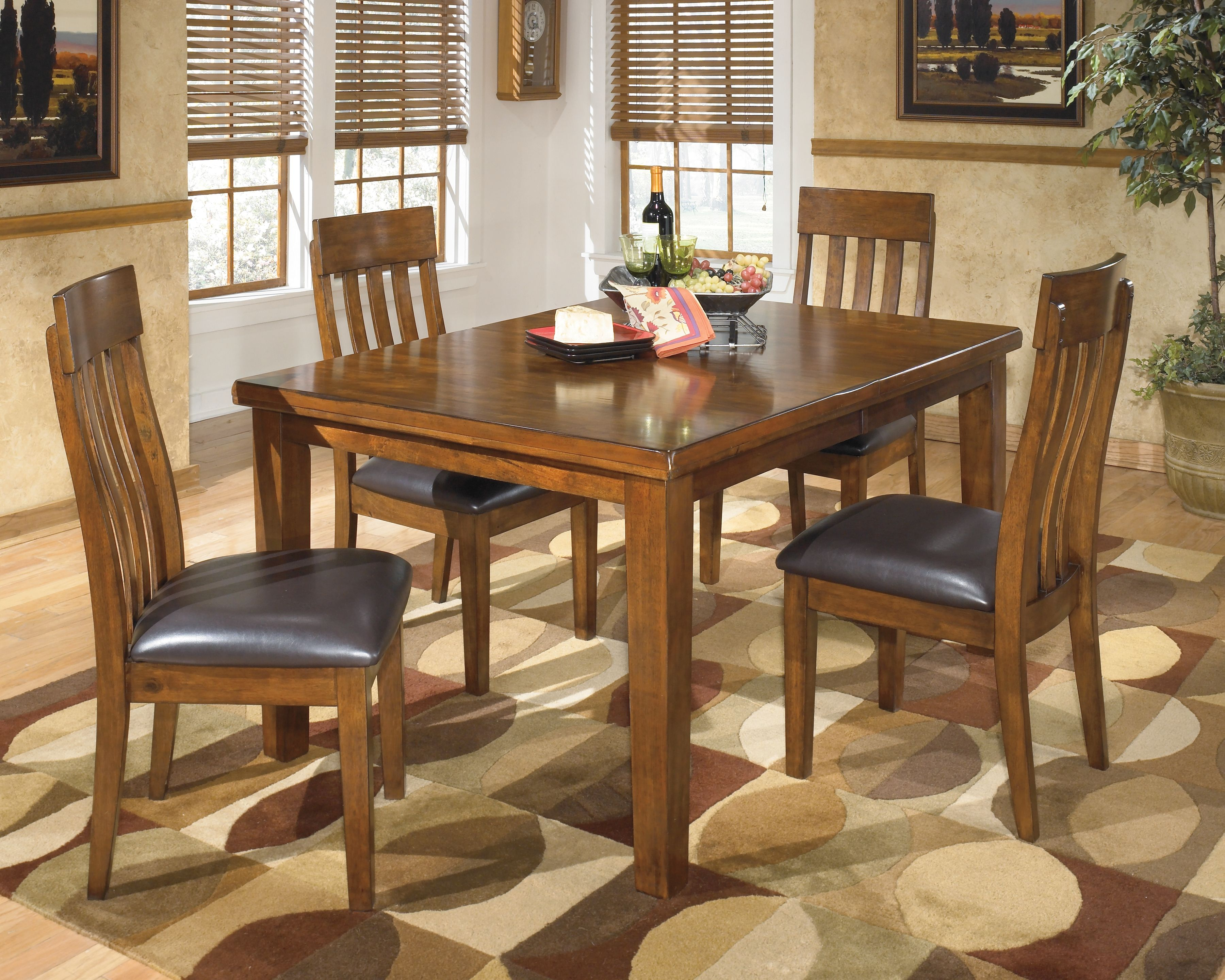 Ralene 5 Piece Dining Room Medium Brown In 2020 Casual Dining Rooms Dining Room Sets Furniture