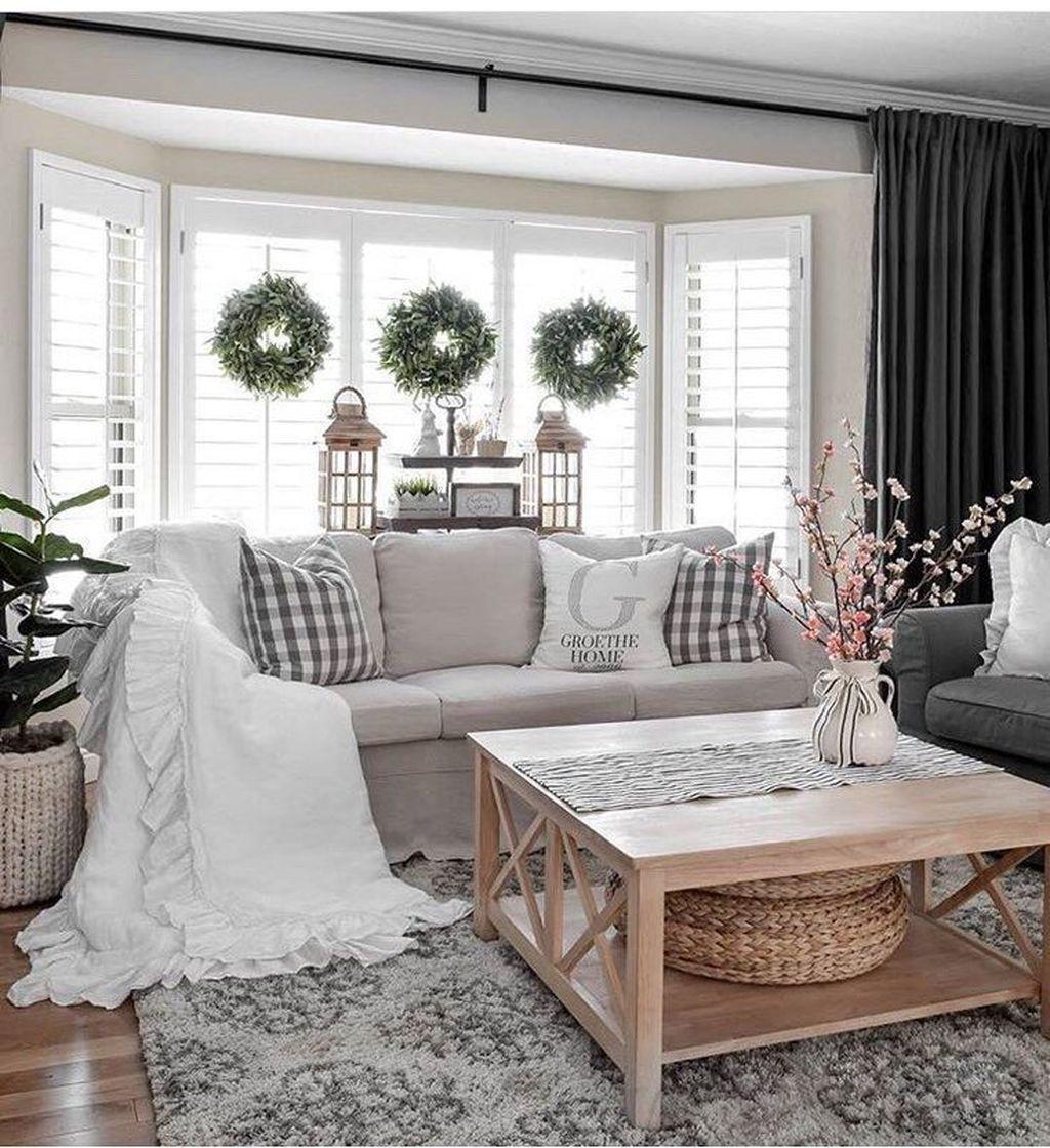 Fabulous Rustic Winter Living Room Decor Ideas   Farmhouse decor ...
