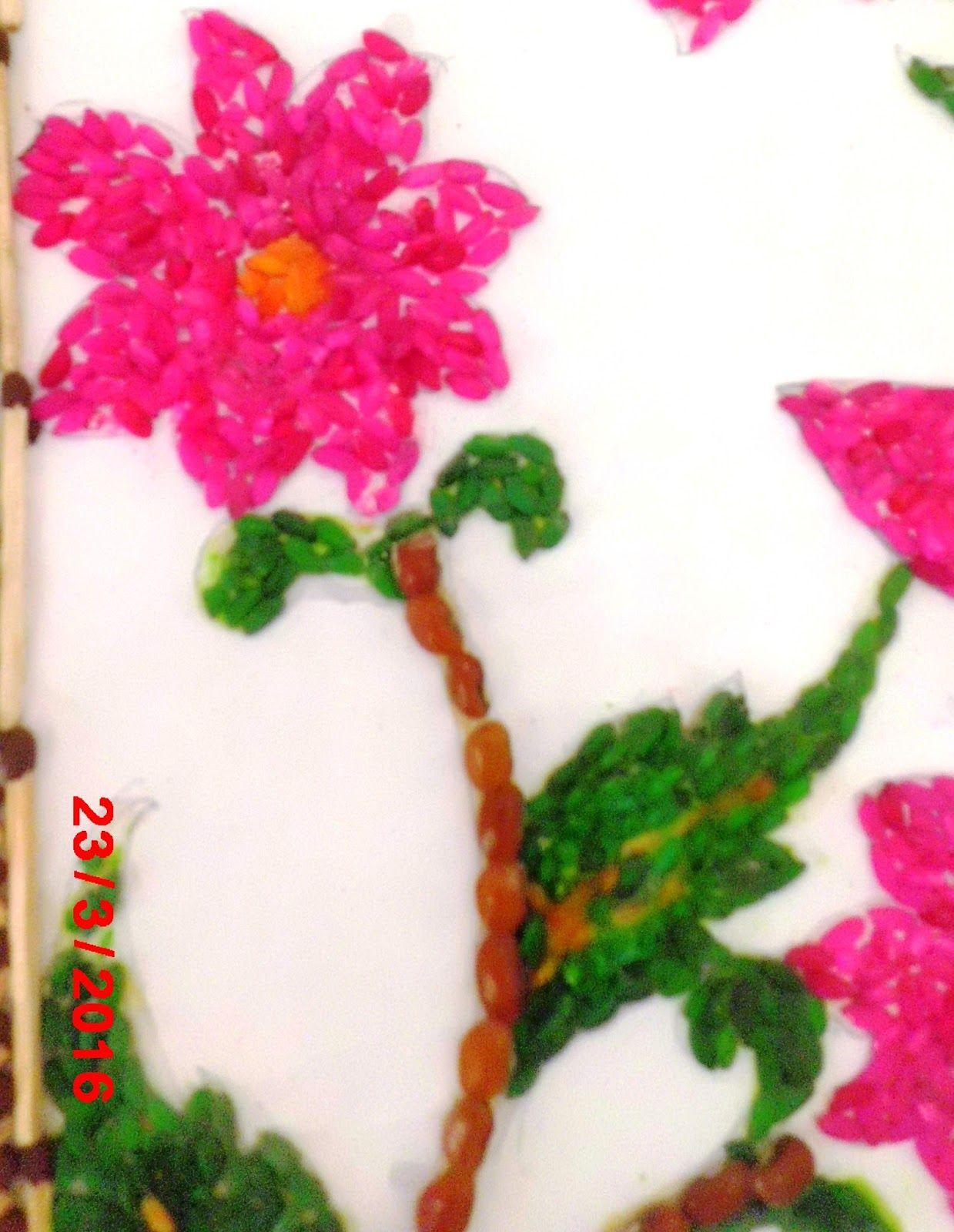 870 Contoh Gambar Kolase Dari Padi Terbaik Kolase Biji Bunga Matahari Gambar