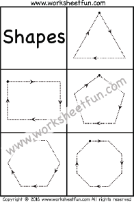 Shapes Tracing – Triangle, Rectangle, Pentagon, Hexagon & Octagon ...