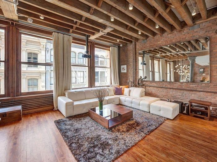 la deco loft new yorkais en 65 images dream home. Black Bedroom Furniture Sets. Home Design Ideas