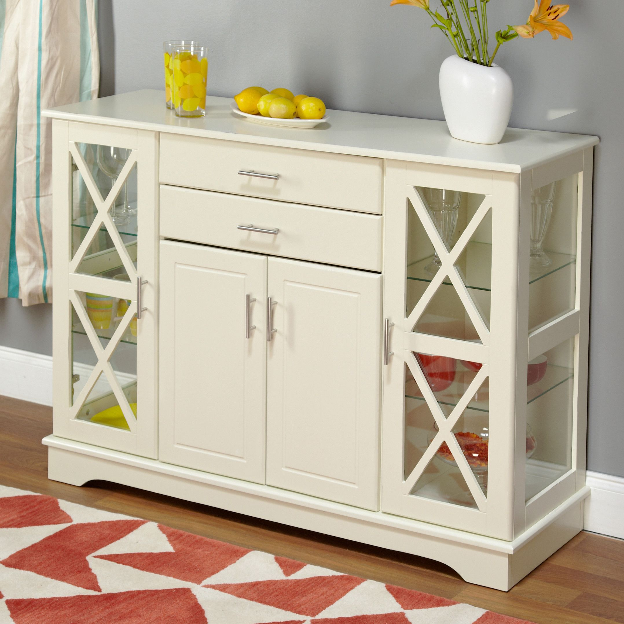 Simple Living Antique White Kendall Buffet Ping S On Buffets