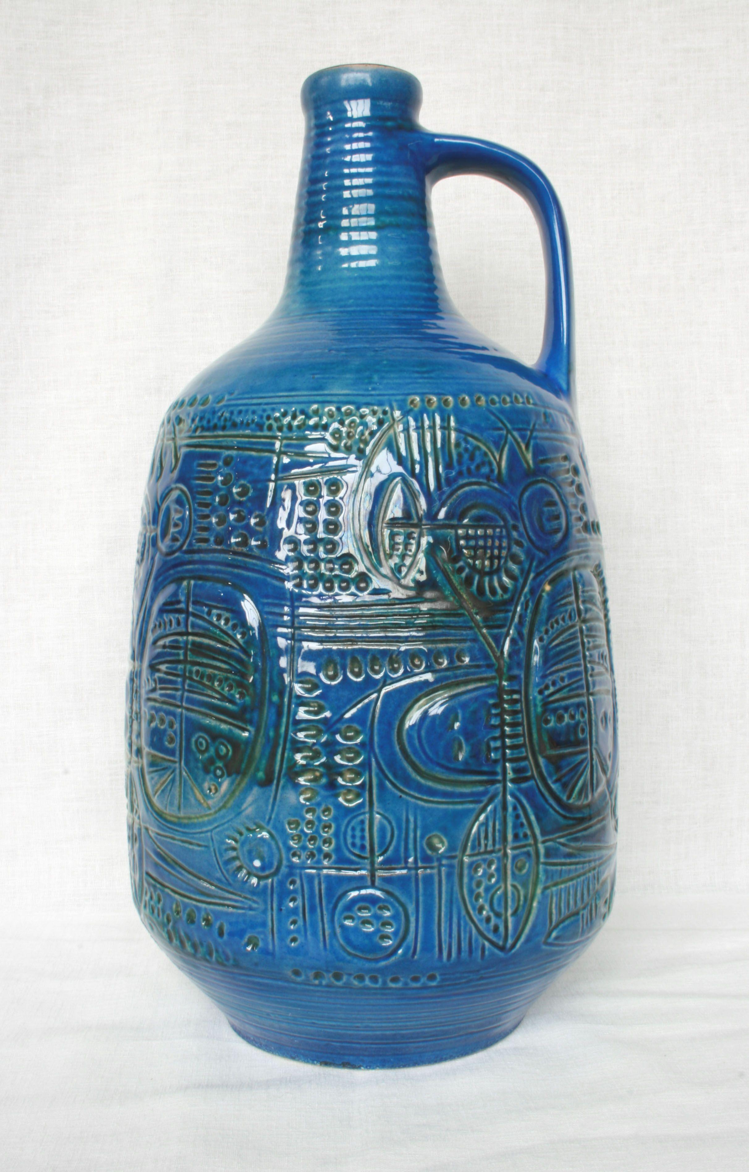 Carstens Atelier floor vase, moulded mark: 7090-50, design: Gerda Heuckeroth. WGP West German Pottery.