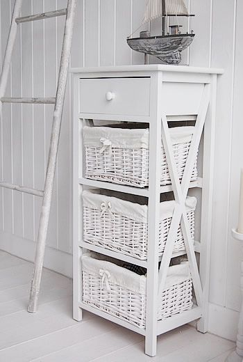 New Haven Tall White Storage Unit With