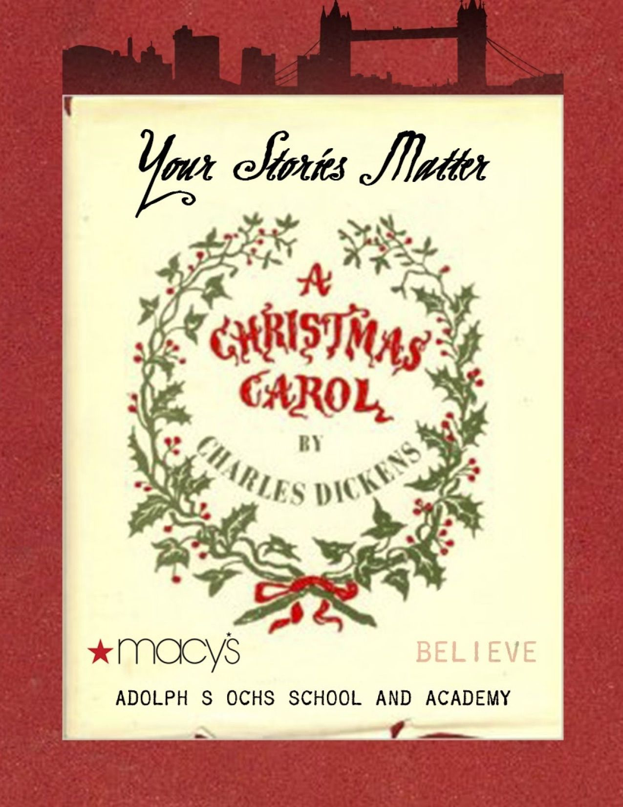"""We are excited to have been awarded a special grant from Macy's New York for our third season! We are collaborating with Macy's to bring our original Dickens and Carol education program called 'Your Stories Matter"""" to PS111 in Hell's Kitchen. We teach them Dickens own amazing story of overcoming poverty and great adversity as a boy, to become one of the greatest writers who has ever lived whose works have made and continue to make a contribution to the world. We will explore his enduring…"""