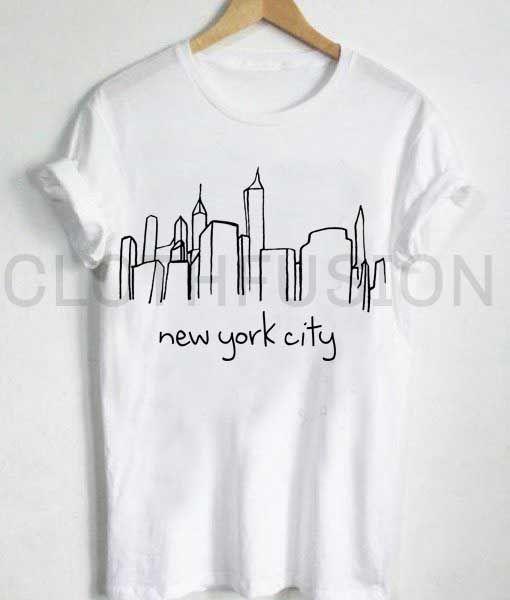 4d1abce0 Unisex Premium New York City Skyline T shirt Design Clothfusion ...