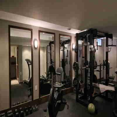 contemporary basement gym ideas  super motivated  home