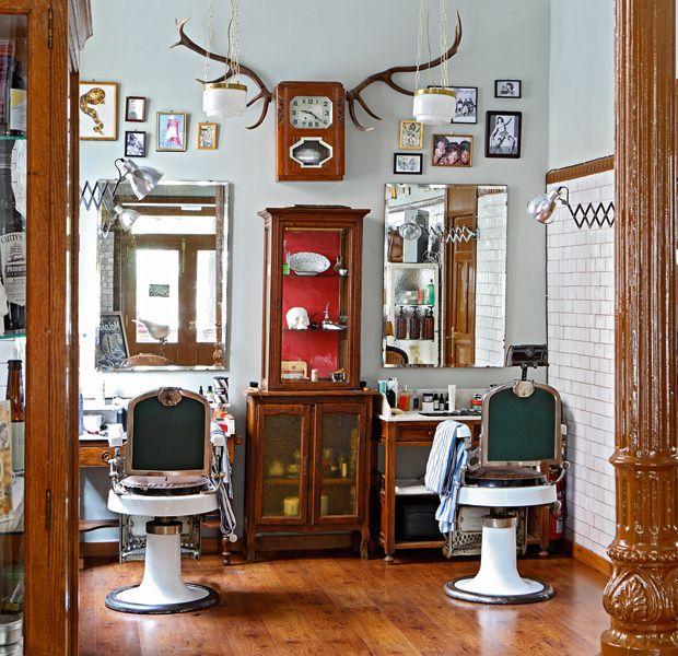 Peluquerias decoraci n pinterest barber a locales y for Decoracion en peluquerias