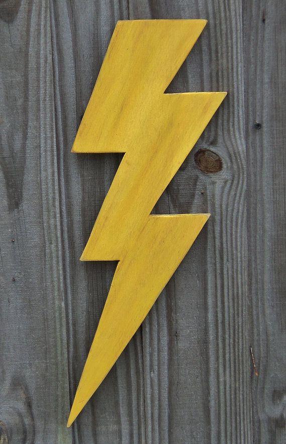 Wooden Lightning Bolt, Thunder Bolt, Flash Of Lightening, Lightening ...