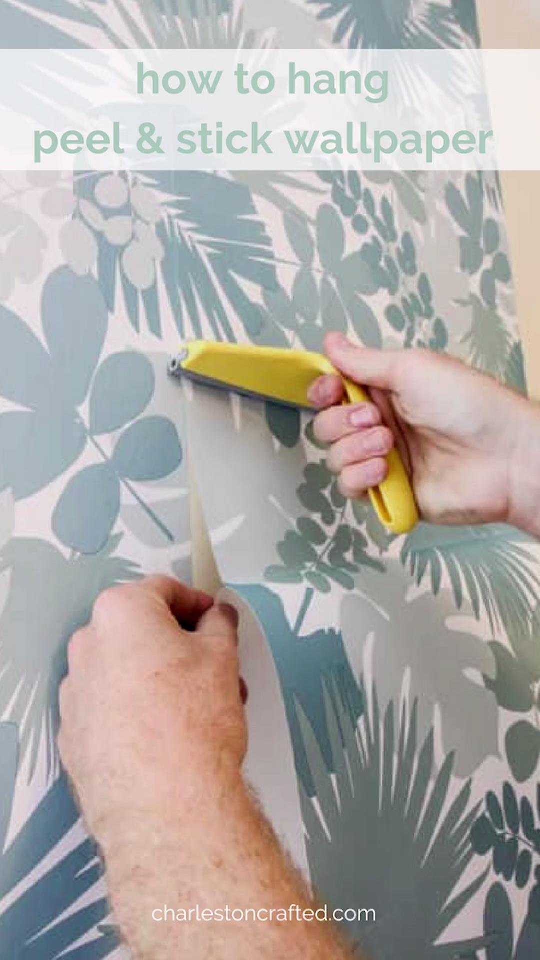 How To Hang Peel Stick Wallpaper Video Video Peel And Stick Wallpaper Stick On Wallpaper Peel N Stick Wallpaper