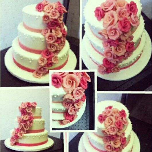 Weddingcake Hochzeitstorte Mit Marzipanrosen Nordcup Wedding Cakes