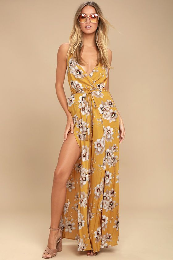 fcbacccf5a2a Going to the Garden Golden Yellow Floral Print Jumpsuit