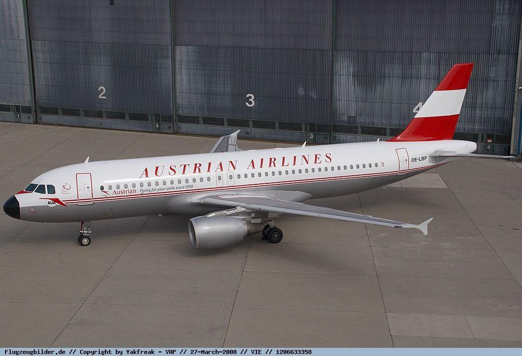 Austrian Airlines - Airbus A320 - OE-LBP - Vienna Schwechat Airport