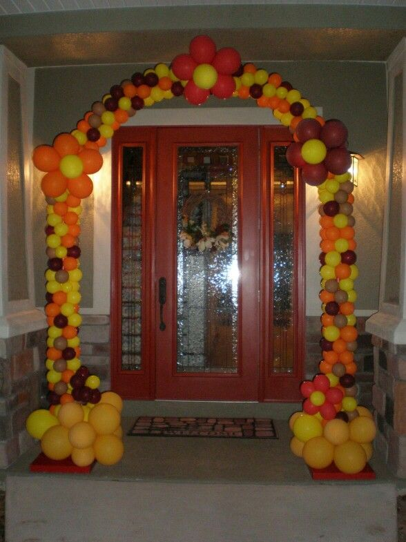 Thanksgiving arch | Diy balloon decorations