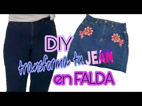 58402e33c1 Convierte tus jeans en una FALDA   Renueva tu ropa vieja