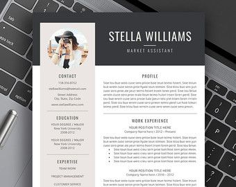 Professional Resume Template, CV Template, Cover Letter, Creative Modern  Resume Bundle, 1   3 Page Word Resume, Instant Download, Amanda MB  Creative Professional Resume Templates