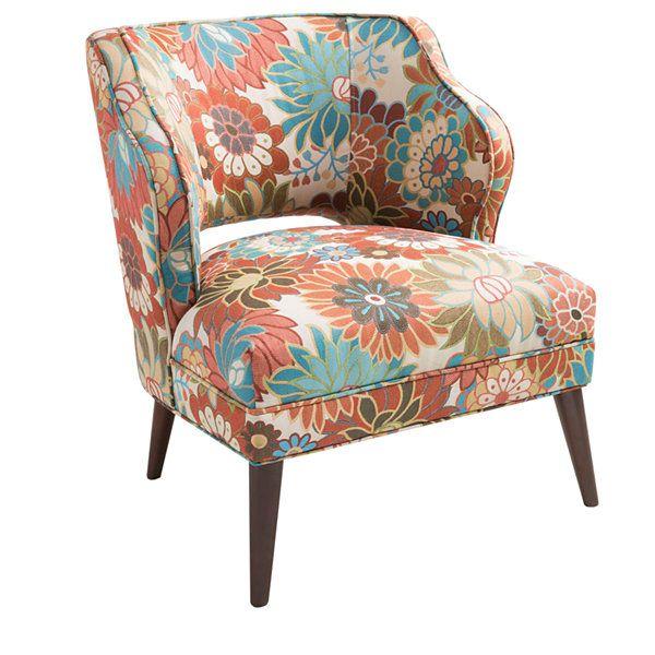 Madison Park Lynn Armless Floral Print Mod Chair   JCPenney