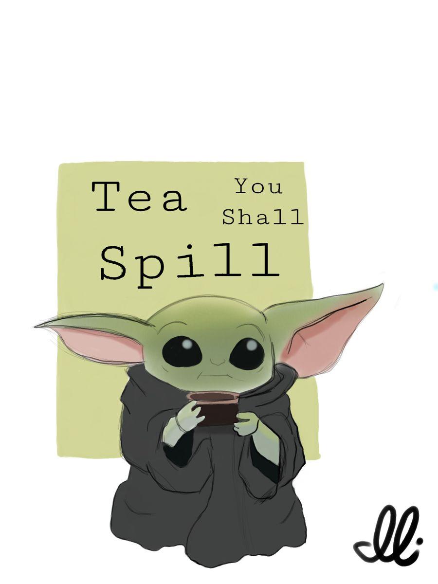 Tea You Shall Spill Character Pikachu Yoda