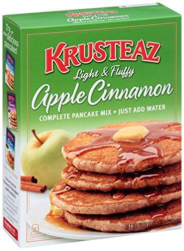 Krusteaz Light and Fluffy Apple Cinnamon Complete Pancake Mix, 28-Ounce Boxes (Pack of 4) *** Trust me, this is great! : Baking supplies
