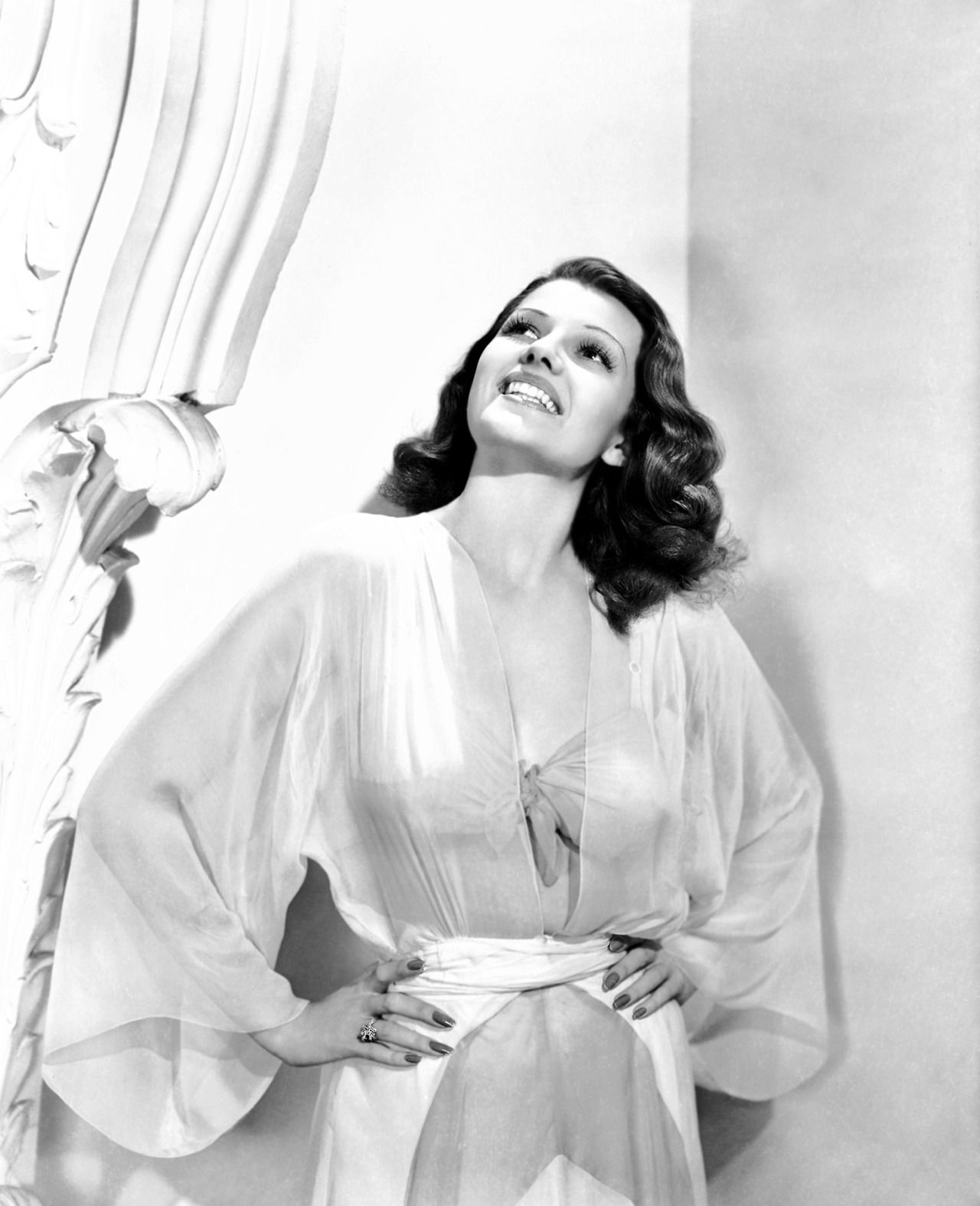 """Rita Hayworth, publicity portrait for """"Blood and Sand"""", 1941."""