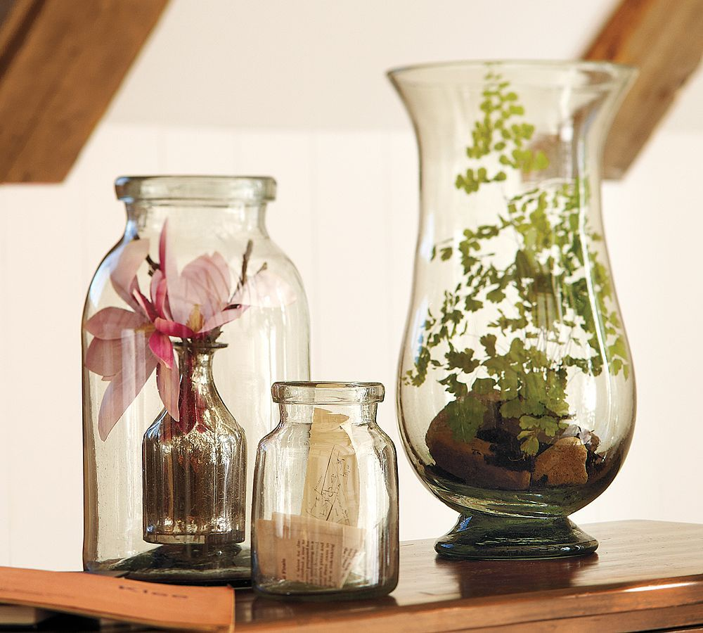 Decoration Ideas With Glass Bottles Recycled Glass Jars & Vase  Ideas For Use  Pottery Barn
