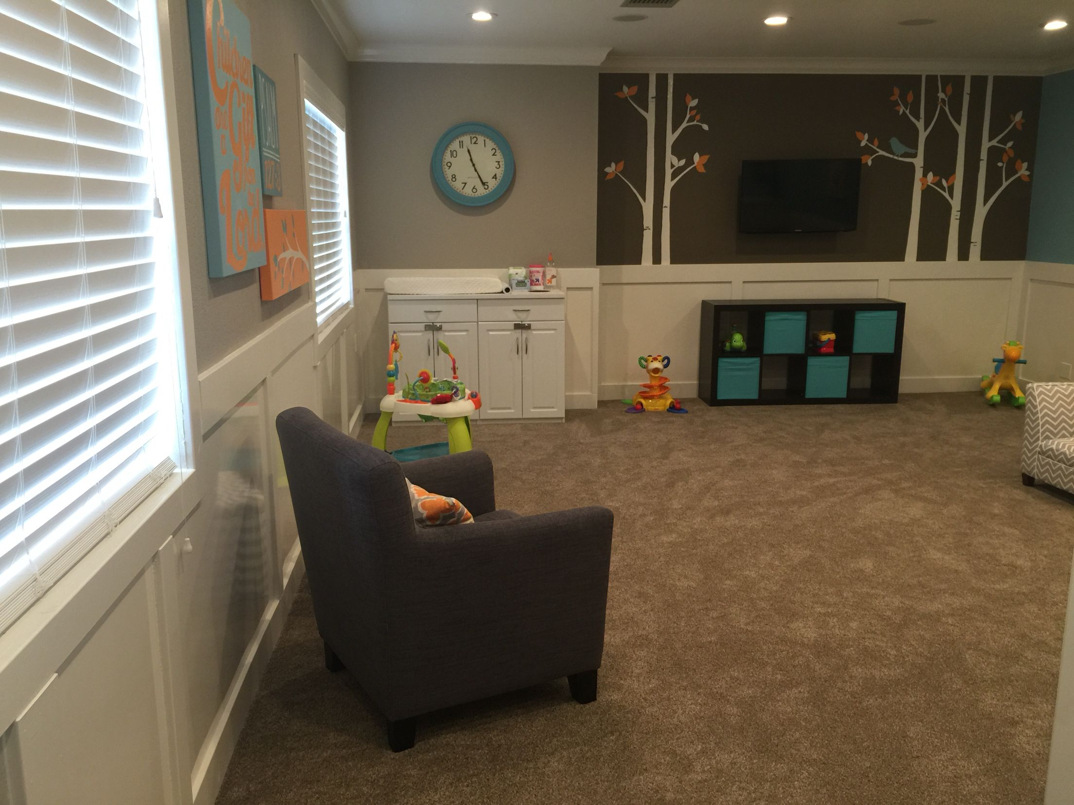 Open Floor Plan For Adobe Church Nursery Came Out Perfect