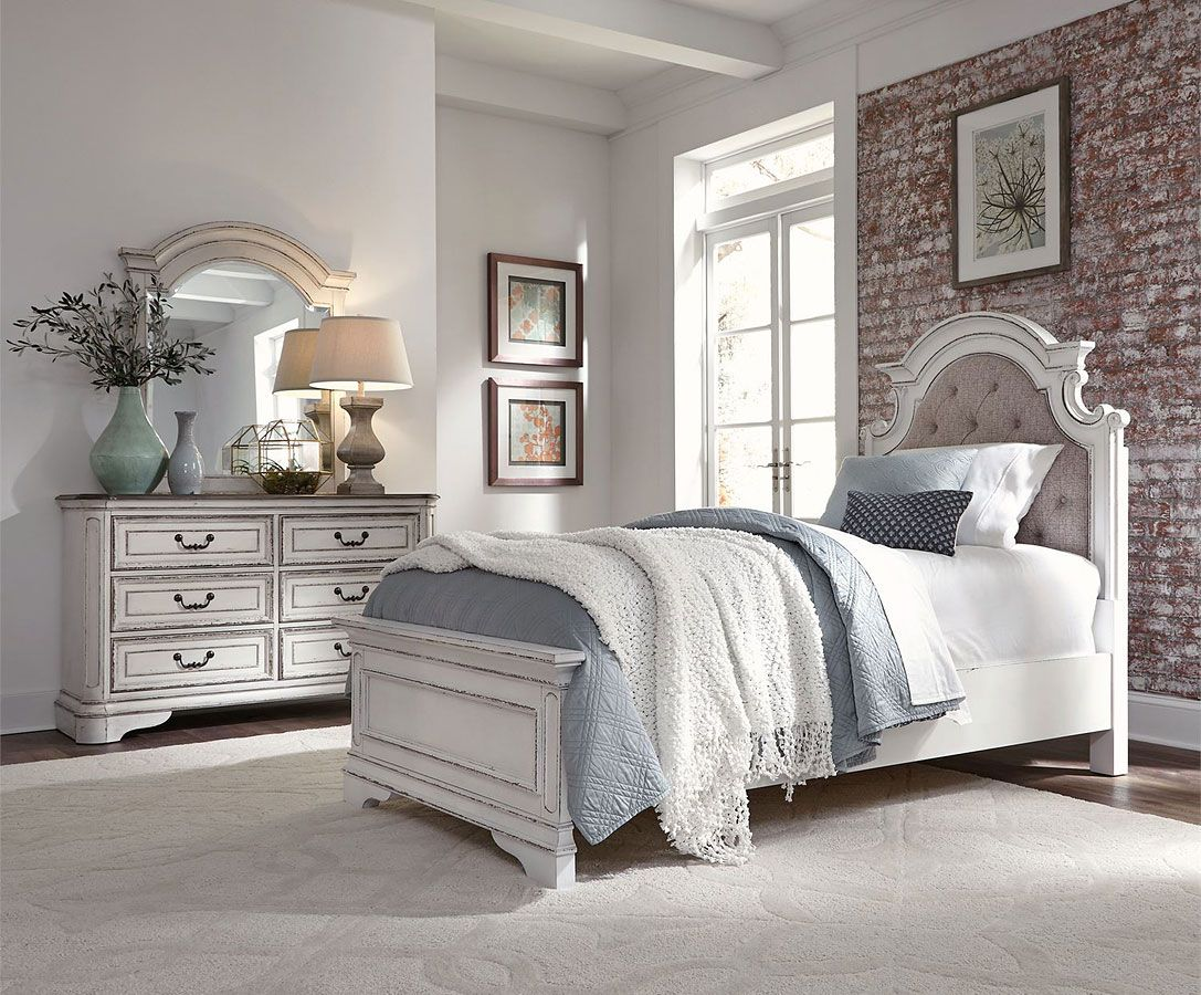 Magnolia Manor Youth Upholstered Panel Bedroom Set