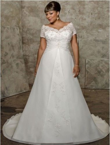 New Plus White Ivory Wedding Dress Bridal Gown Custom Size 18 20 22 24 26 28 Wedding Dress Necklines Plus Size Wedding Gowns Amazing Wedding Dress