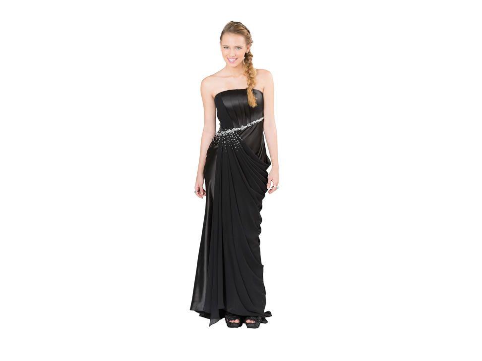 Vestido largo Rue de la Paix Cosmomoda J13130 negro/