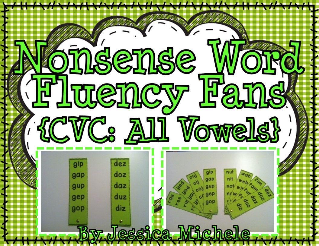 Fluency Fans Nonsense Words Cvc All Vowels