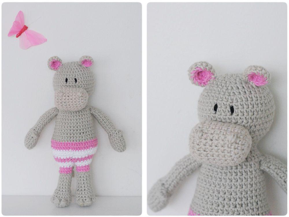 Amigurumi Hippo - Free Crochet Pattern / Gratis mönster på virkad ...