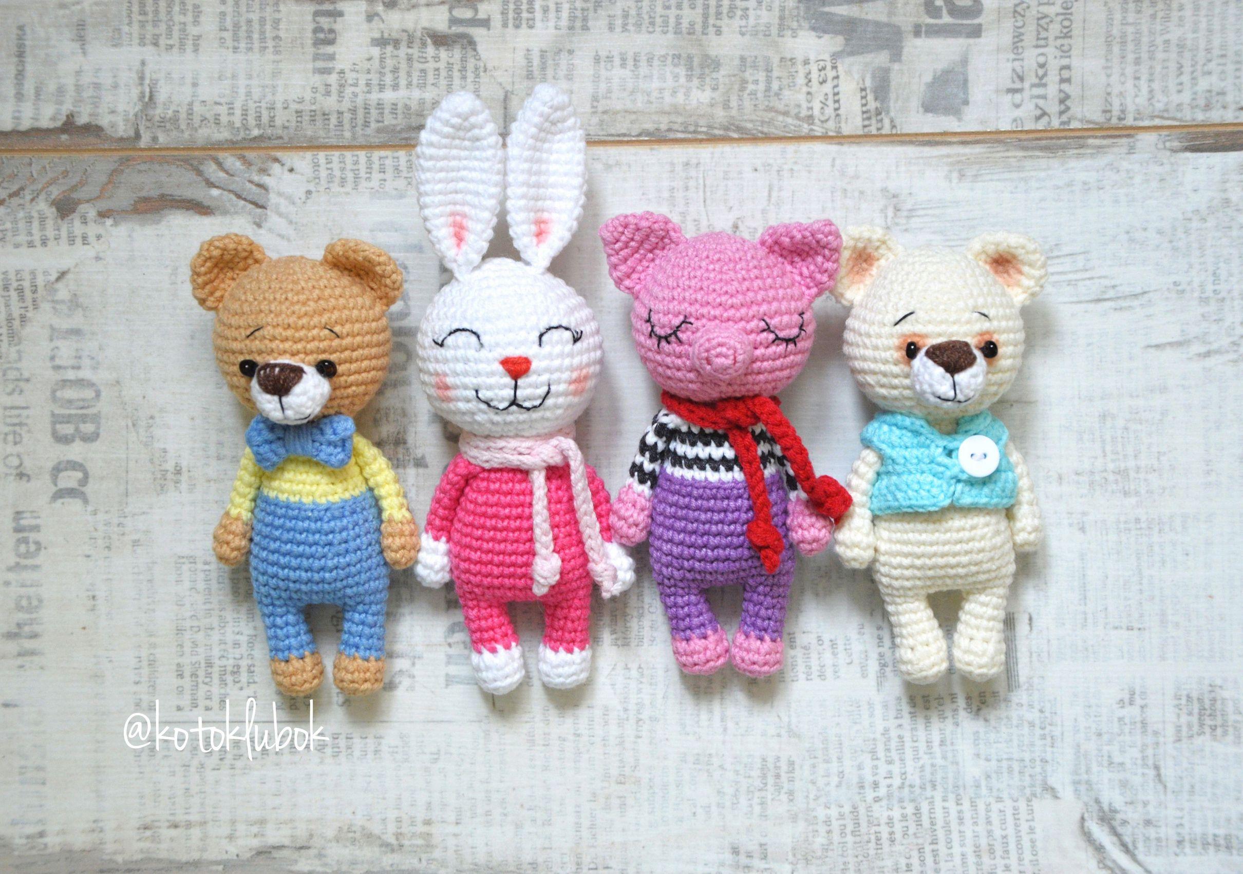 PDF Мини Зверюшки. FREE amigurumi crochet pattern ...