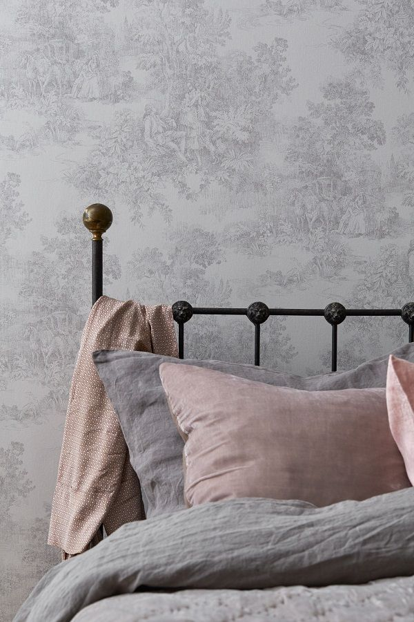 Wallpaper A Touch Of Vintage French Heart Home French Bedroom