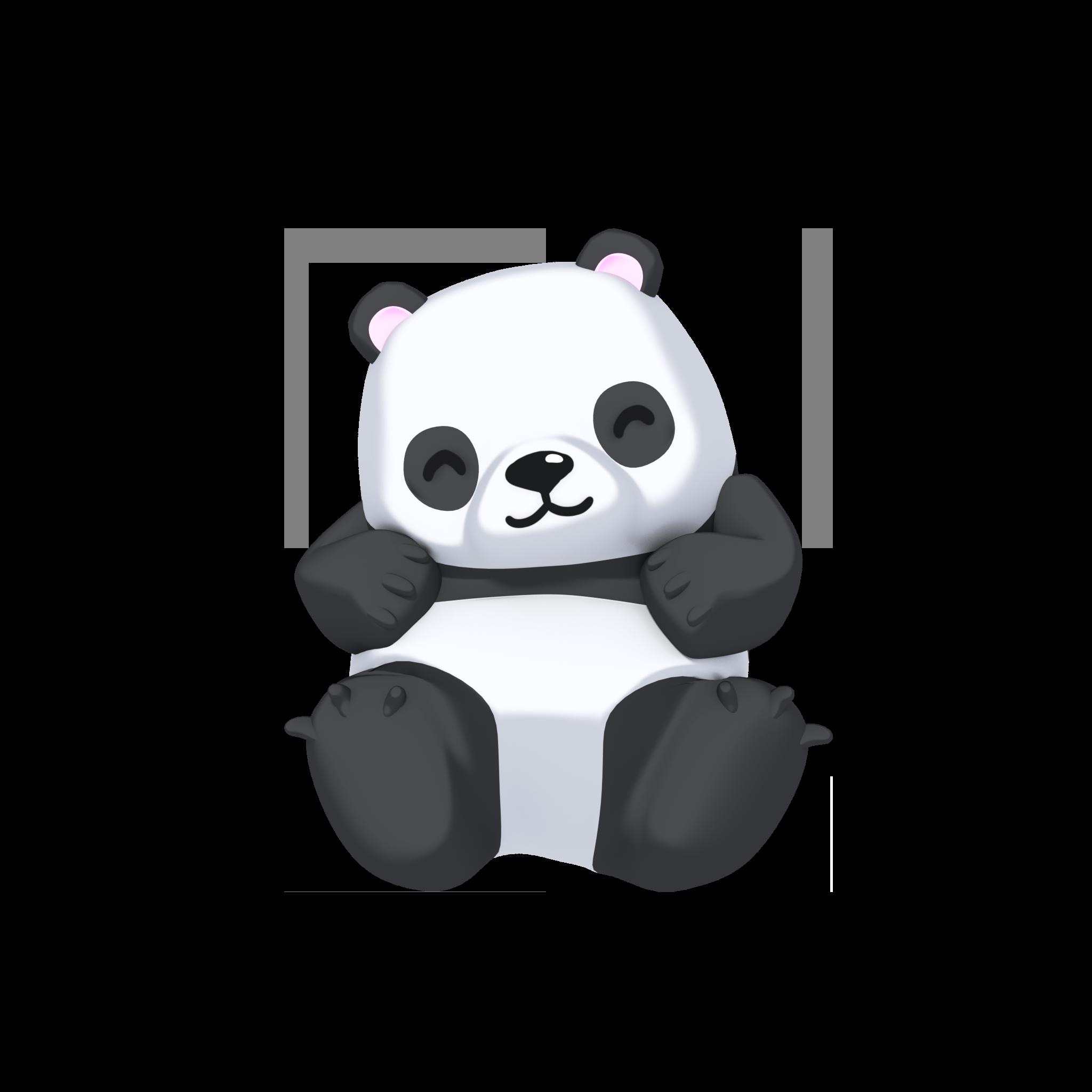 Panda Bear Character Bear Character Character Panda Bear