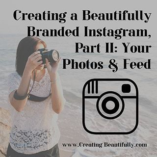 """Oh, hey friends! I just wanted to let you know that my latest class, """"Creating a Beautifully Branded Instagram Part II: Your Photos & Feed"""" is now live! It's on Skillshare, which means, if you're already a premium member, it's free! And if not? Just visit www.creatingbeautifully.com/classes (that link is also in my bio right now) and you can get that class, plus all of my other classes (including Part I in that series that is all about perfecting your IG profile!) as well as every other…"""