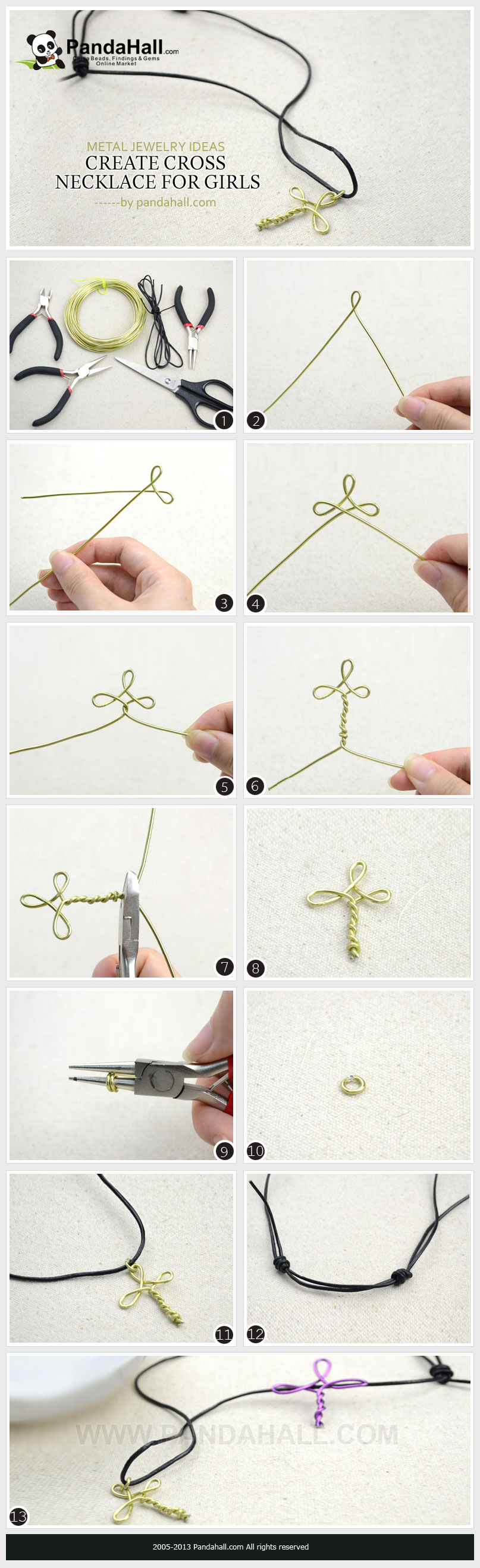 Metal jewelry ideas - create a cross necklace for girls from ...
