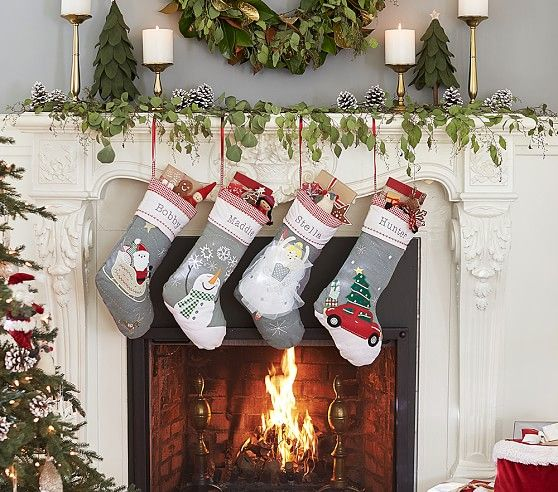 Quilted Stocking Collection Pottery Barn Christmas