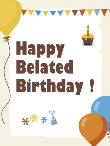 send free happy belated birthday greeting card to loved ones on rh pinterest com Thank You Clip Art Free Free Halloween Clip Art