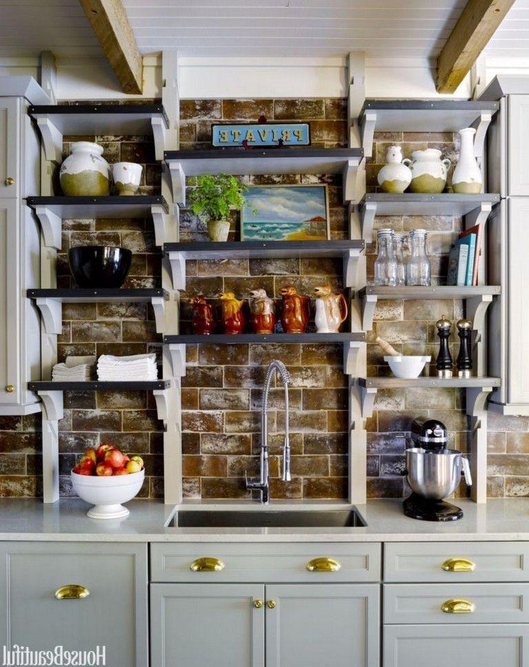 46 elegant rustic kitchen decor open shelves ideas rustic kitchen kitchen decor trends on kitchen decor open shelves id=14636