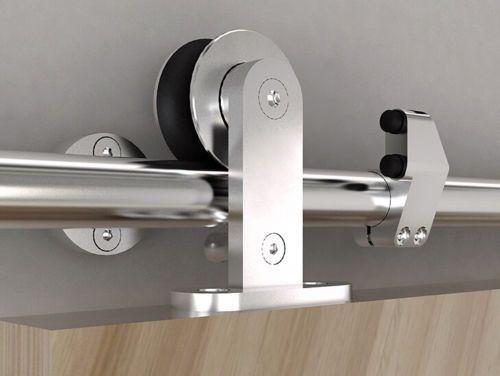 Modern Stainless Steel Interior Sliding Barn Wood Door Hardw…