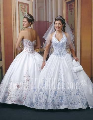 Halter Top Wedding Dresses 1997 Beautiful Ball Gown Halter Top Neck Veil Floor Length White