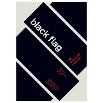 Black Flag, 1981 17x23.75  by Swissted by Stereotype
