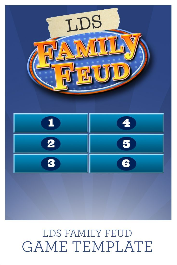 Use This LDS Family Feud Game Template With 38 Questions Already Programmed In Or Add Your Own Has It All