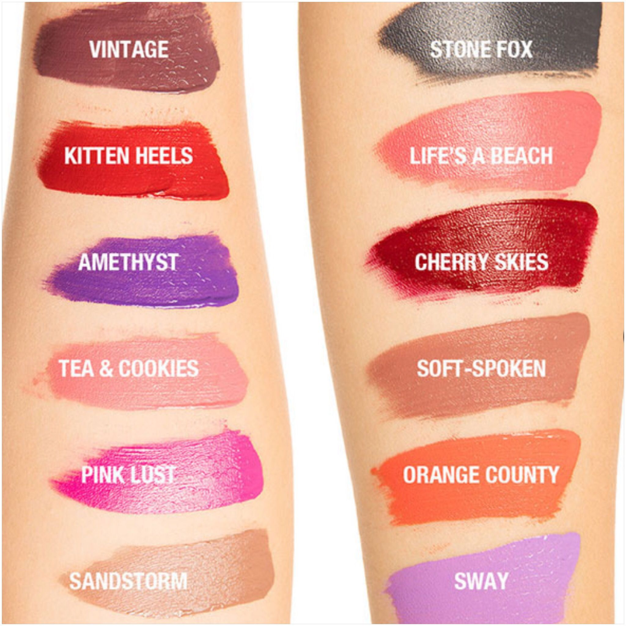 6 99 Each Target Nyx Liquid Suede Swatches On Pale Skin Want Vintage Tea Cookies Nyx Liquid Suede Swatches Liquid Suede Cream Lipstick Nyx Liquid Suede