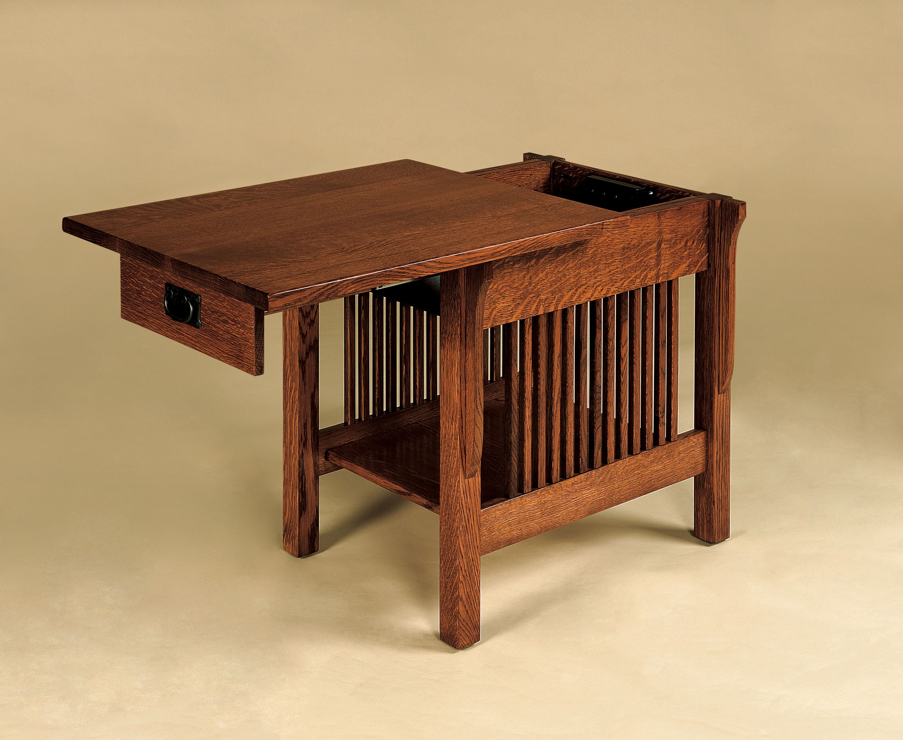 Coffee And End Tables With Storage Mission Craftsman Style End Table With Sliding Top For Lap Top