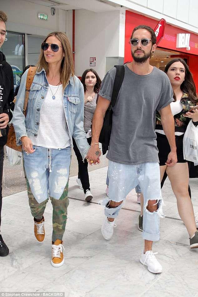 b11f095076 Homeward bound: Heidi Klum, 44, and her new boyfriend Tom Kaulitz, 28