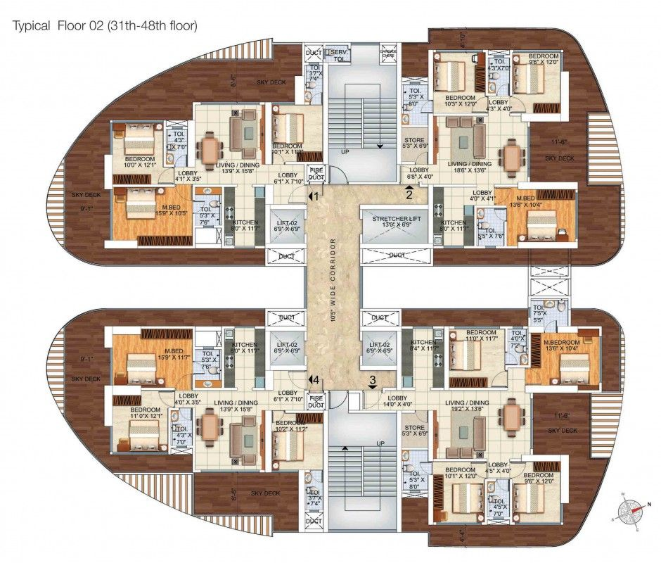Sci Fi Layouts : Floor plan modern apartments cartographer s fantasies
