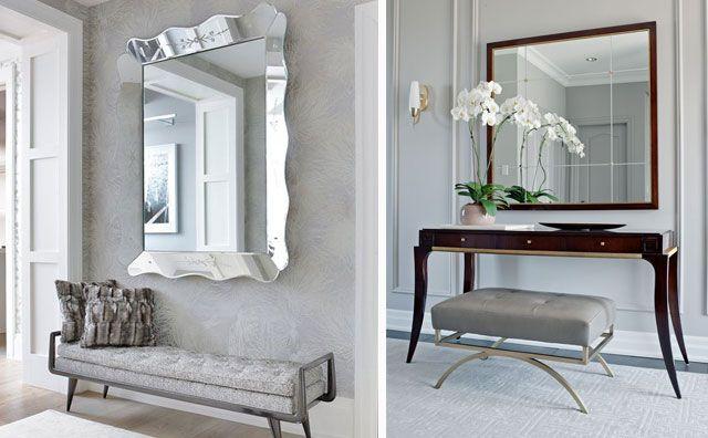 Ideas para decorar con espejos en el hogar hall for Espejos para hall