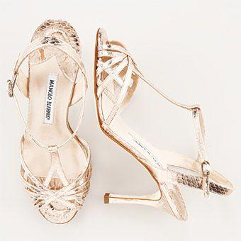 manolo blahnik gold wedding shoes